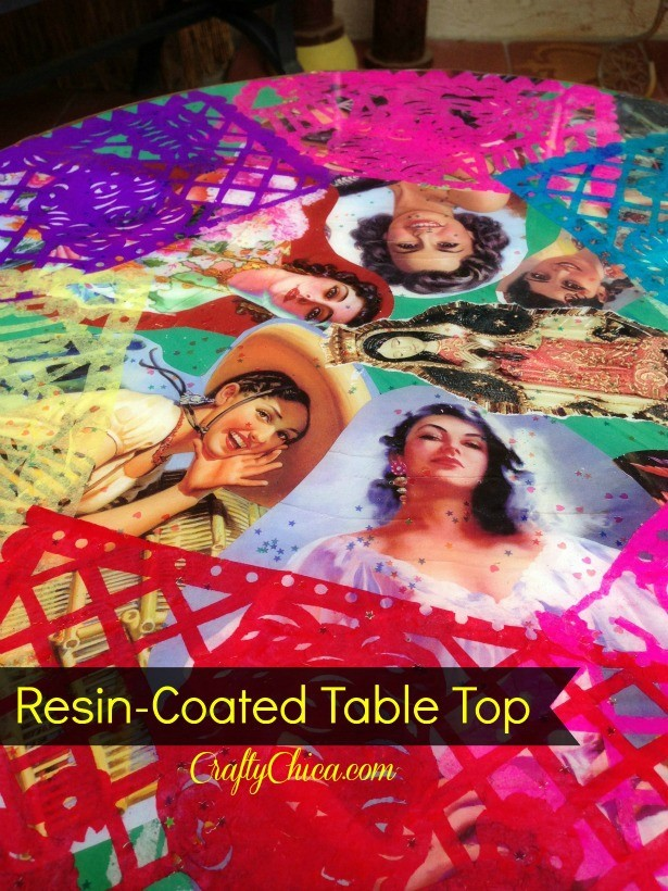 Resin table top