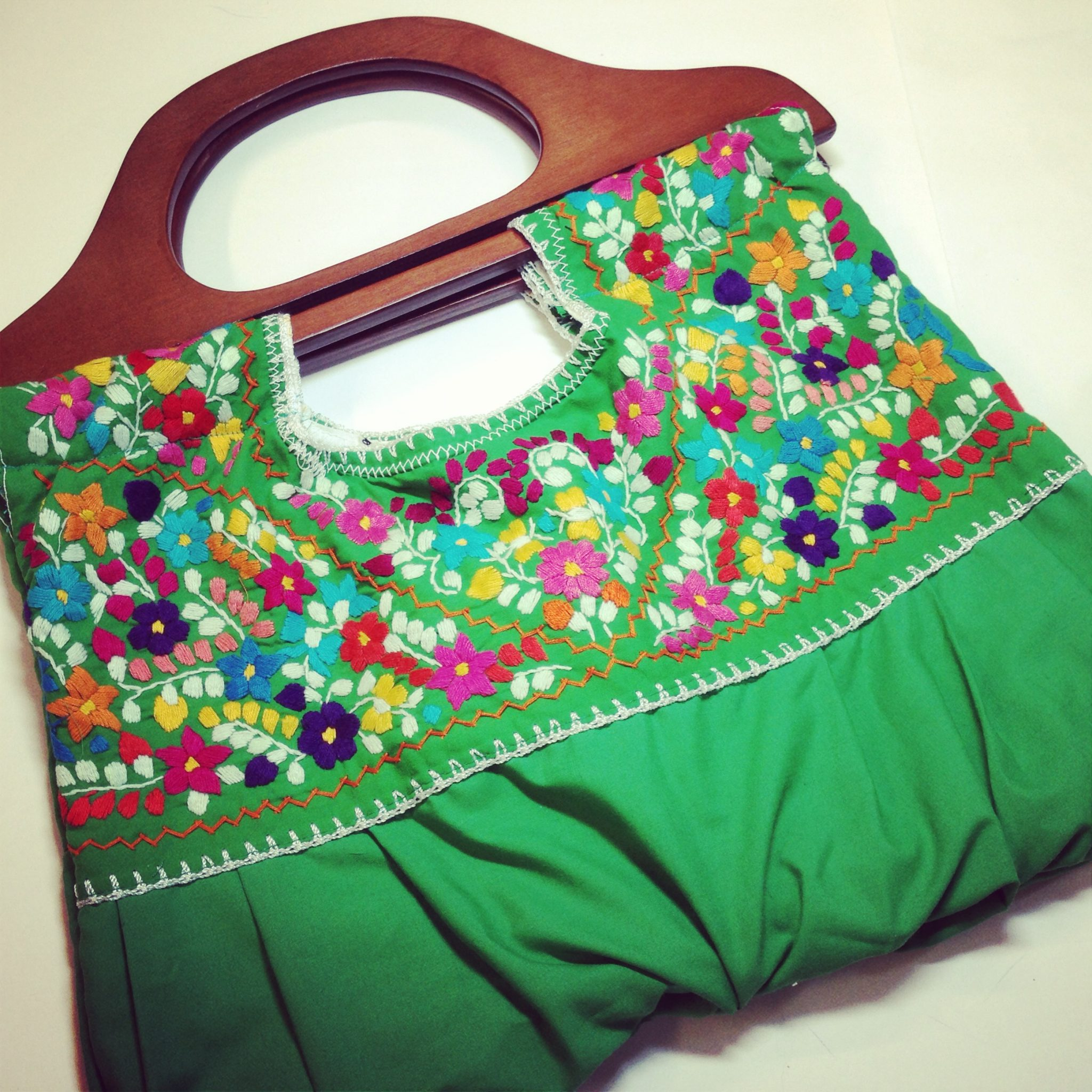 Mexican embroidered blouse turned purse crafty chica™