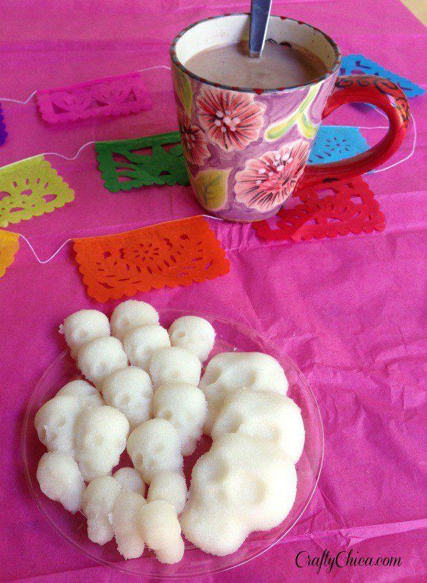 Sugar skull cubes