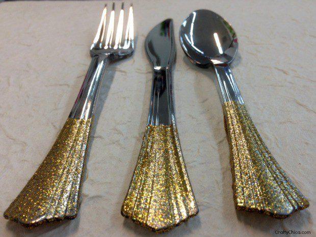glittered-plastic-flatware