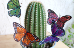 Butterfly Plant Pokes by CraftyChica.com