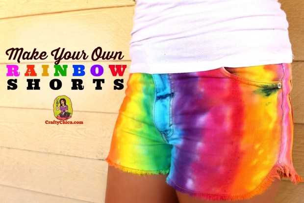How to make rainbow shorts
