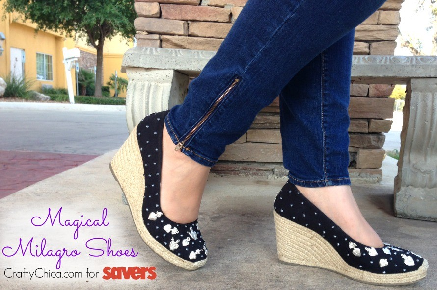 Visit Savers to #FindTheFind - I made these fun Magical Milagro Shoes! By CraftyChica.com