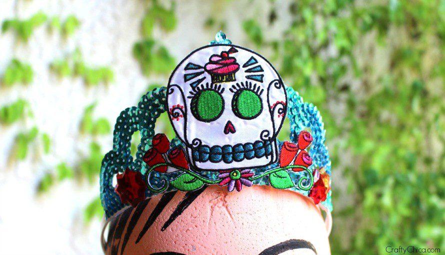 Dia de Los Muertos Tiara by CraftyChica.com.