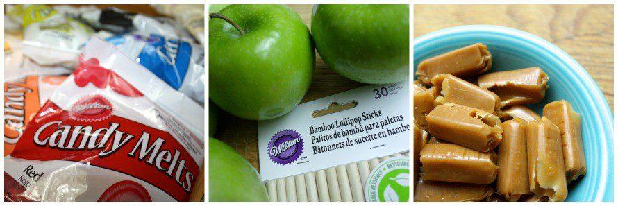 Supplies to make Sugar Skulls Caramel Apples