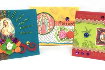 Holiday cards made from MothershipScrapbookGal kits.