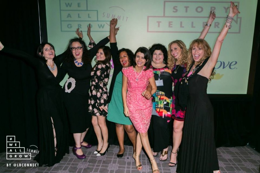 The We All Grow storytellers and our besties! Photo by Robson Muzel and #WeAllGrow Summit 2015.