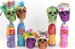 how ot make Dia de Los Muertos bottle people, craftychica.com.