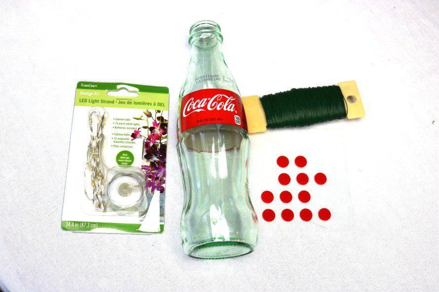 Coke bottle luminaria supplies