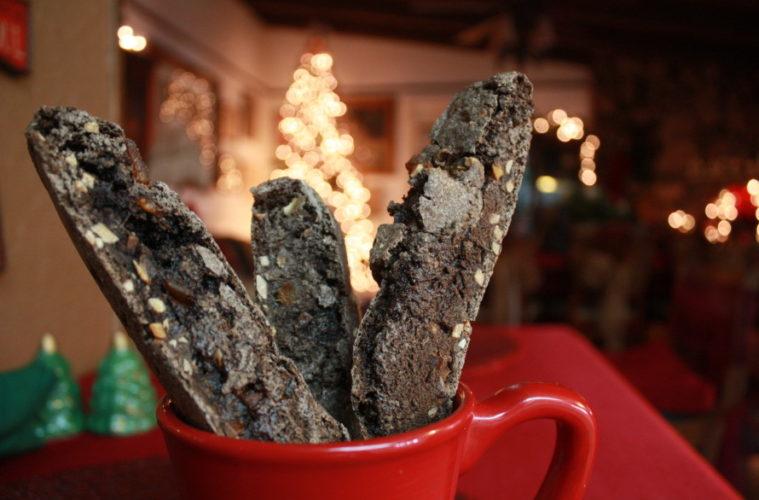 Chile Mango Chocolate Biscotti