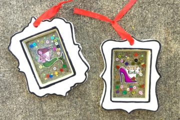 How to make open back resin frames.