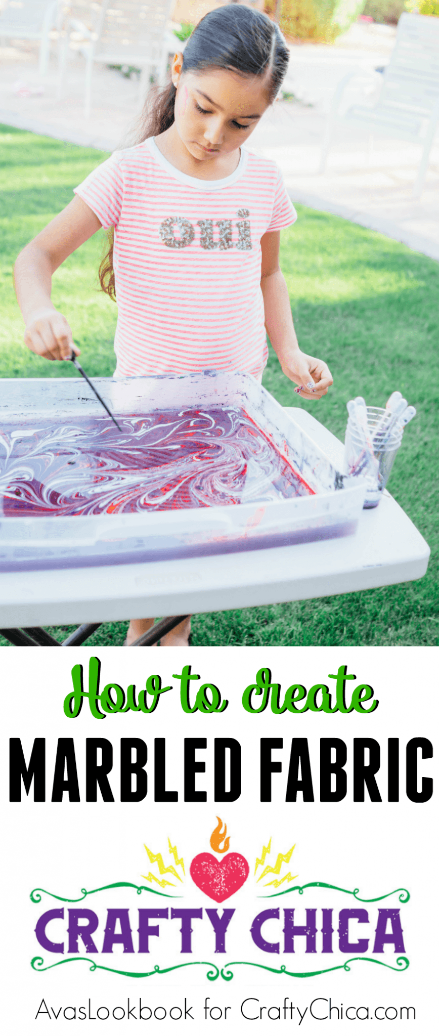 How to create marbled fabric.