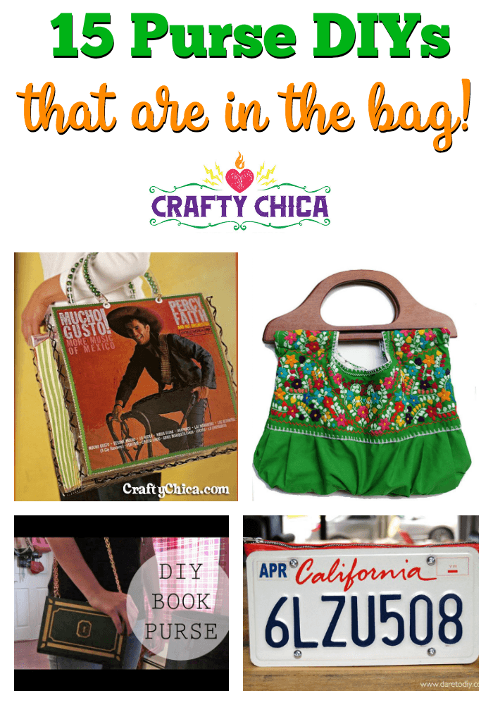 15 Purse DIYs to try! CraftyChica.com