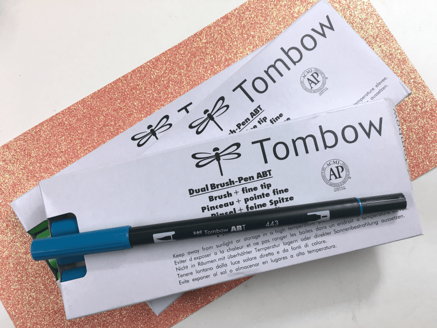 Tombow brush markers!