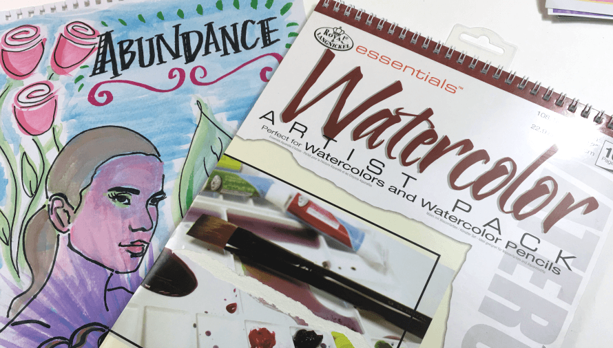 Watercolors from Royal Brush using a stencil from The Crafter's Workshop!