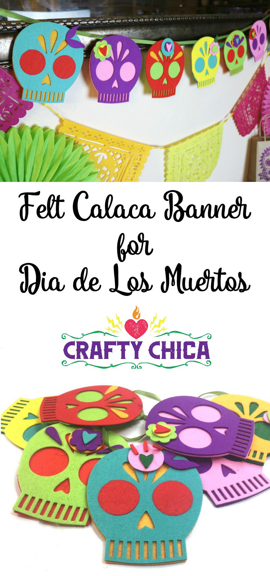 Felt Muertos Banner by CraftyChica.com