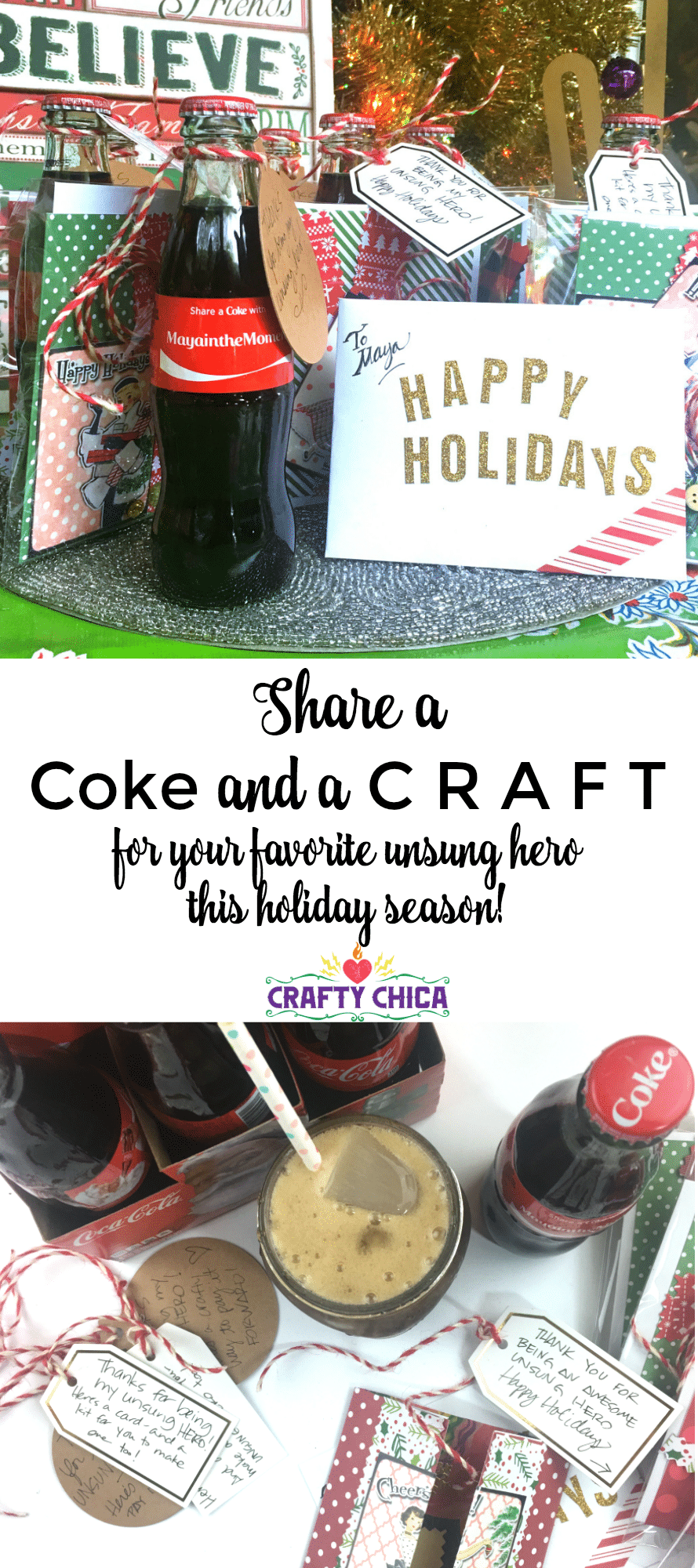 Share a Coke and a craft this season, By CraftyChica.com