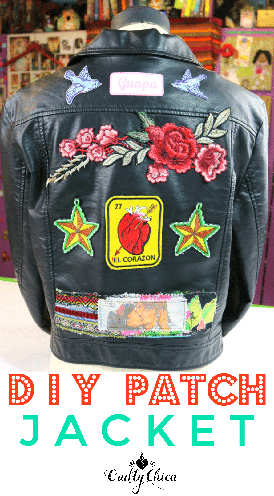 DIY Patch Jacket by Crafty Chica