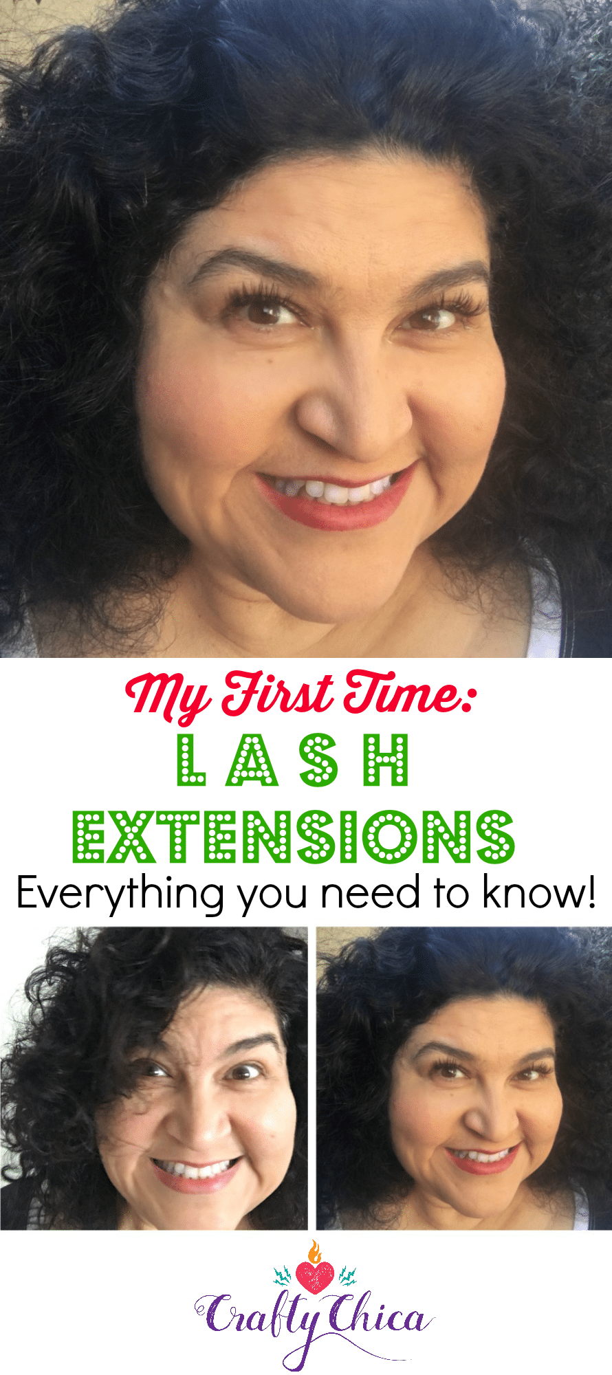 My experience with lash extensions - The Crafty Chica