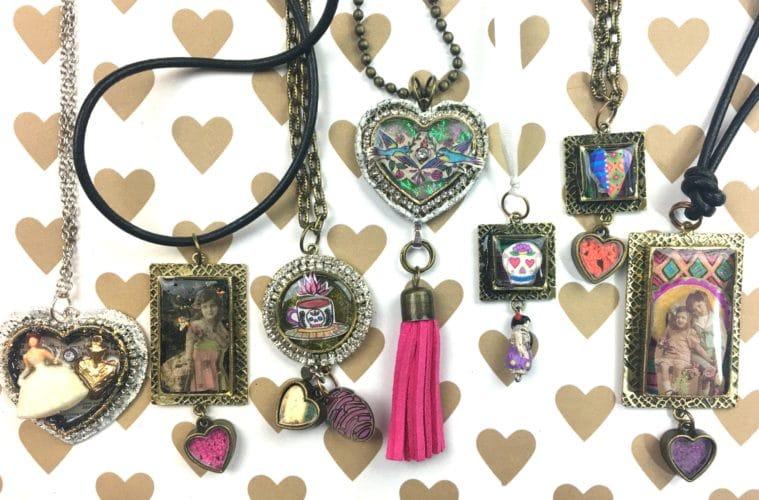 Resin jewelry DIY by CraftyChica.