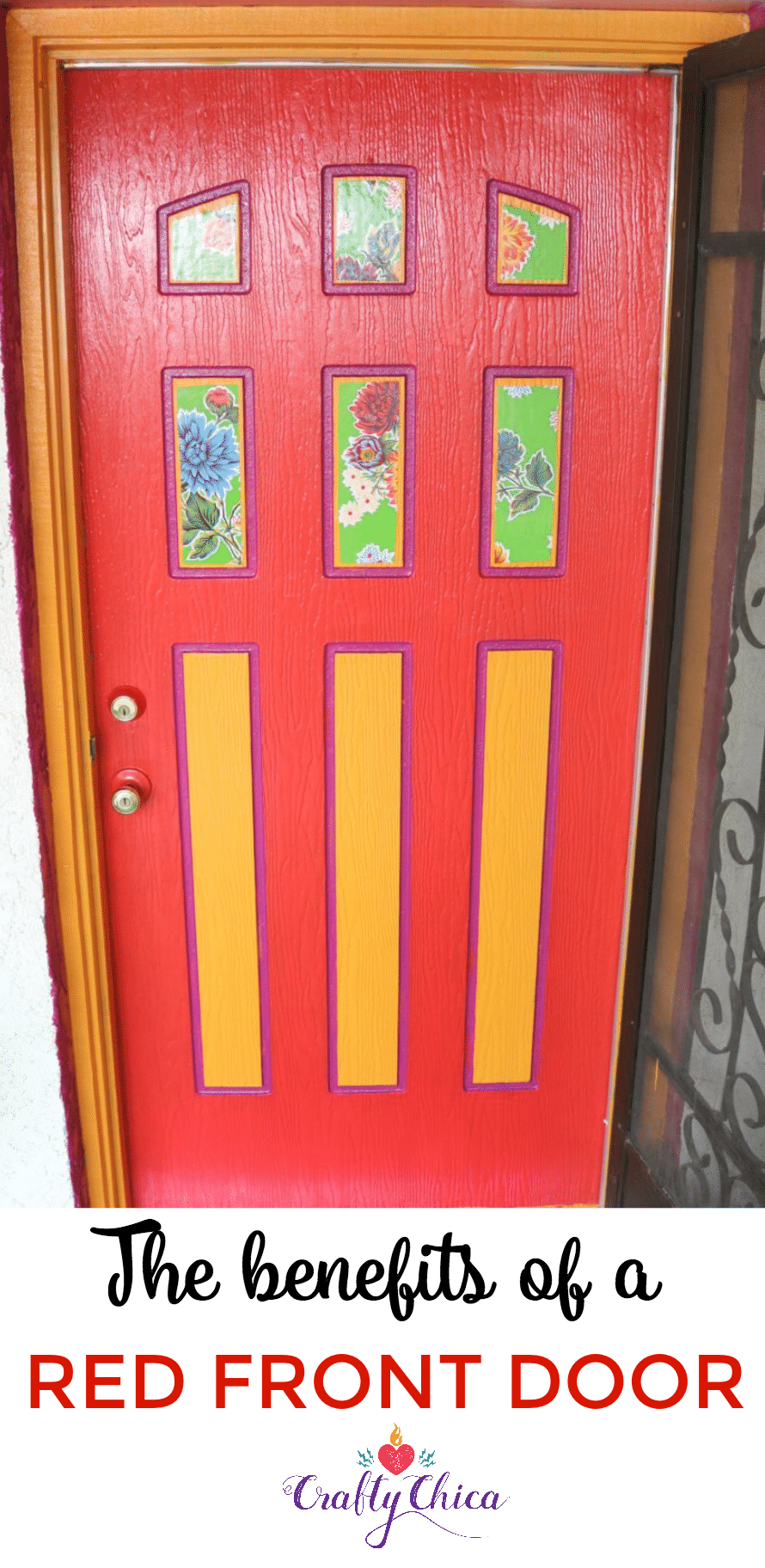Meaning of a red front door, CraftyChica.com
