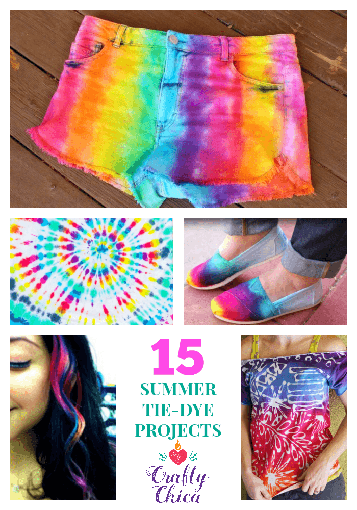 15 Summer Tie-Dye Projects to try, by CraftyChica.com.