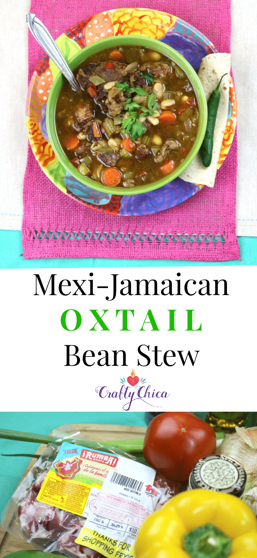 Mexi-Jamaican Oxtail Bean Stew by Crafty Chica.