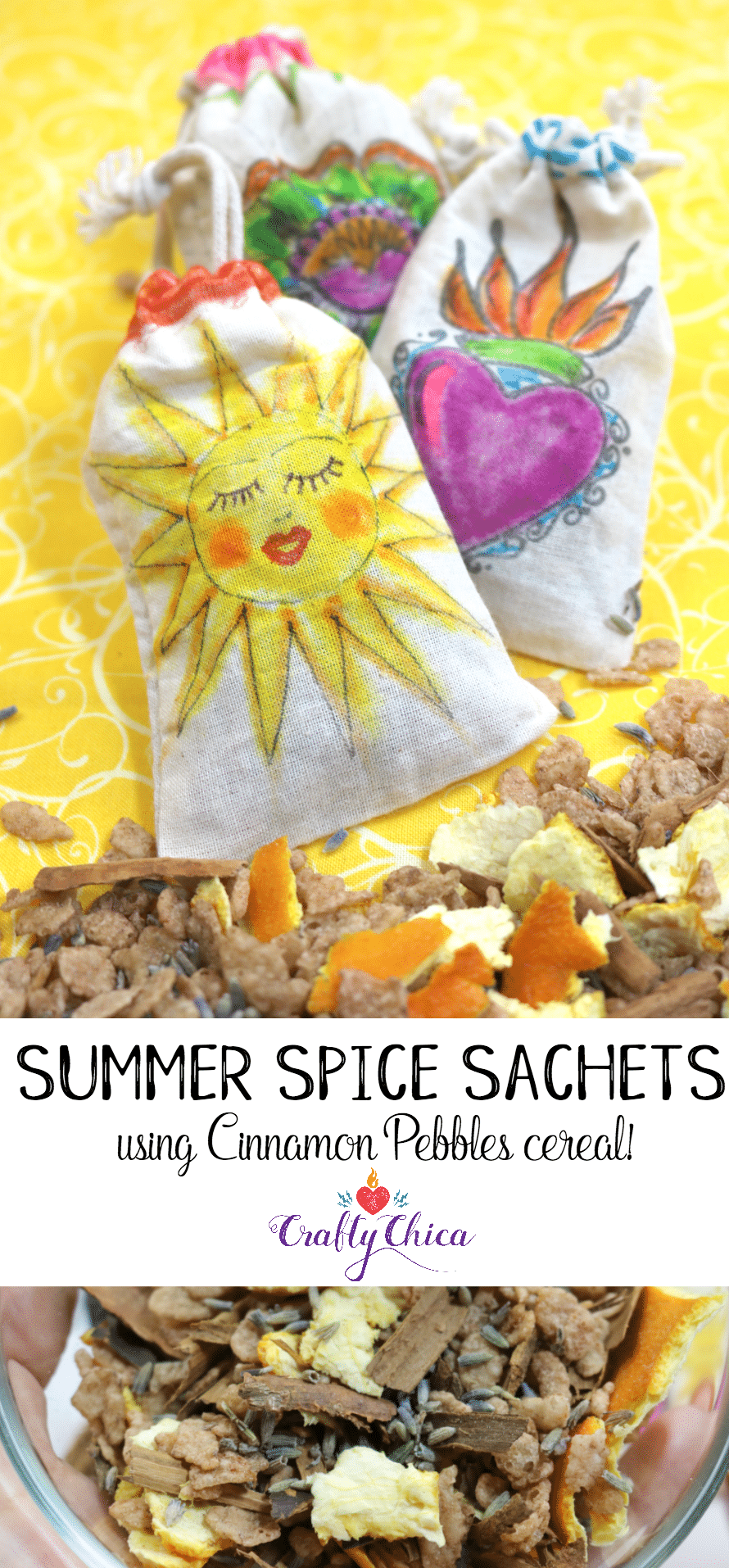 Summer Spice Sachets by Crafty Chica.