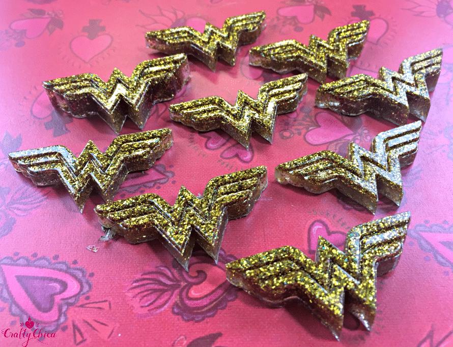 How to make Wonder Woman jewelry by CraftyChica.com.