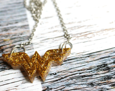 How to make Wonder Woman jewelry by CraftyChica.com.