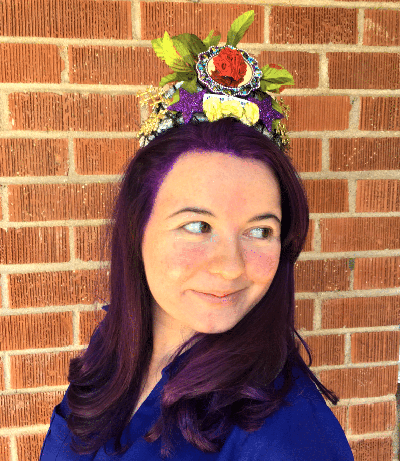 "Thania Alcazar wears the ""divine Beauty"" Art crown by Crafty Chica."