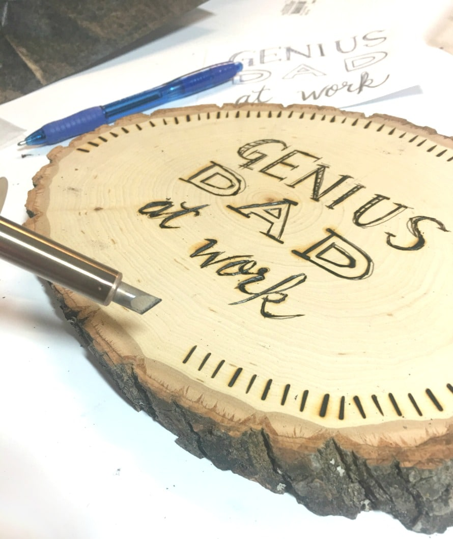 Wood burned sign DIY