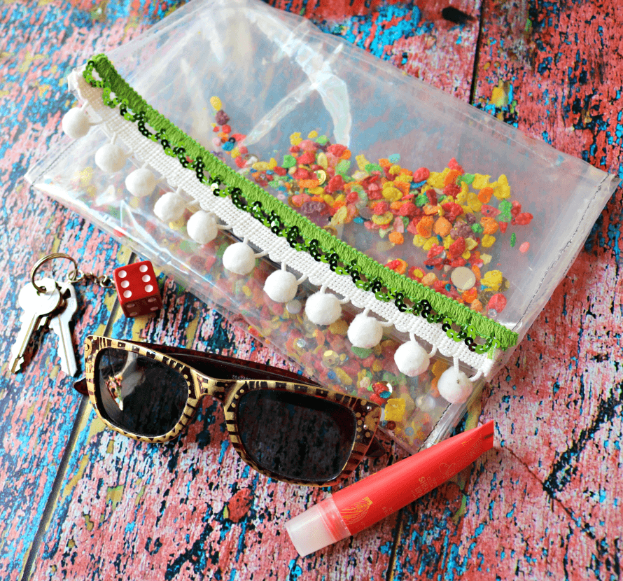 Fruity Pebbles Craft - Make a vinyl pouch, by Crafty Chica.