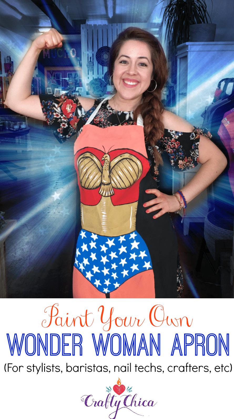 Wonder Woman apron idea!