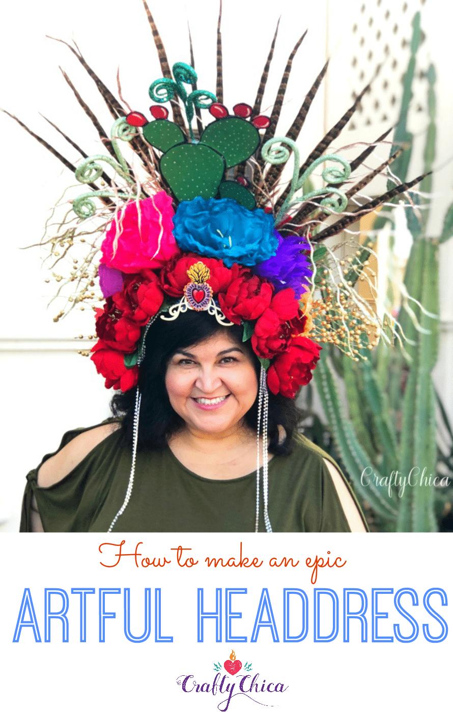 epic art headdress diy the crafty chica