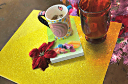 resin glittered tv trays