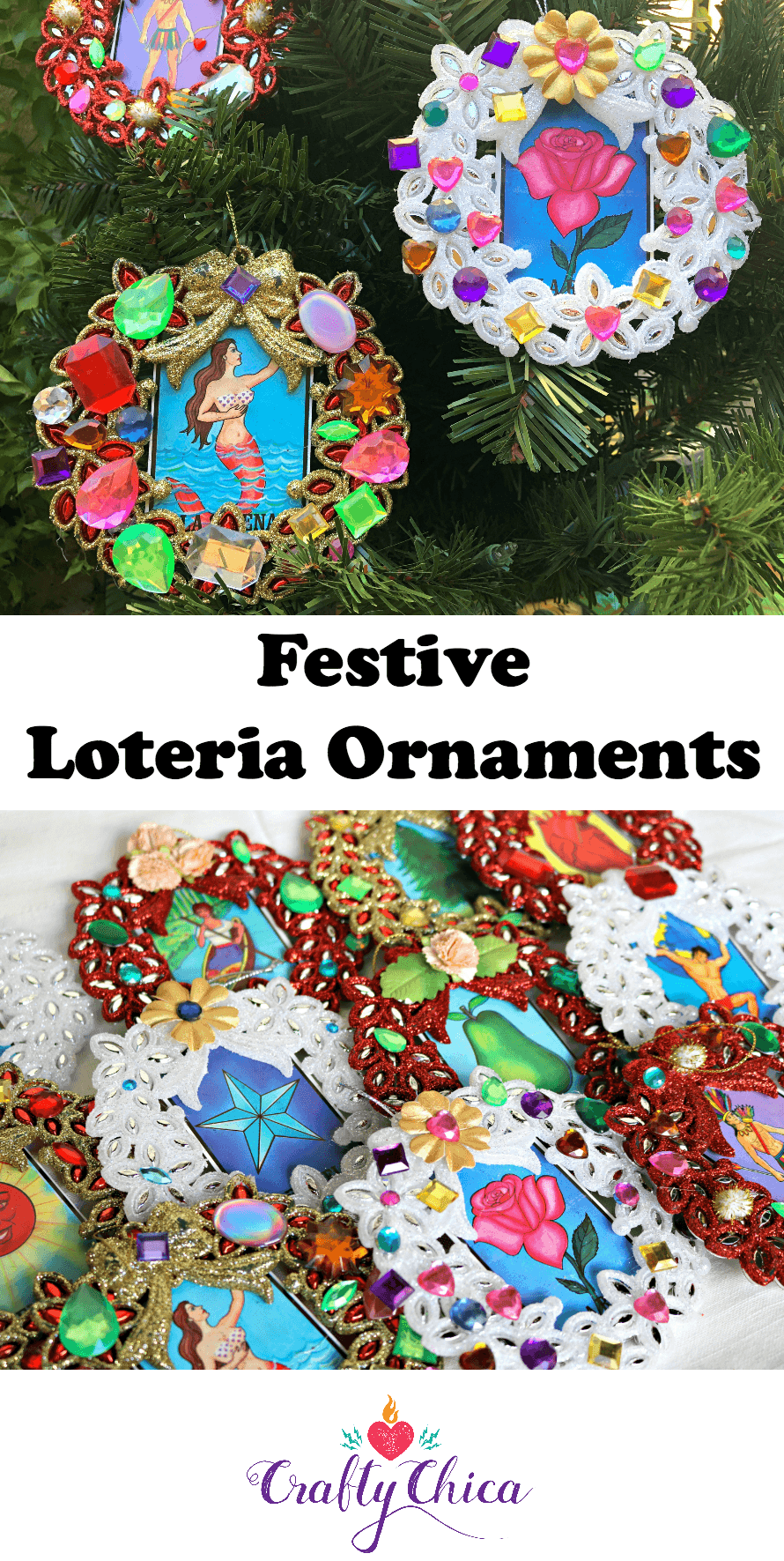 Loteria ornaments by CraftyChica.com