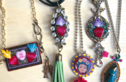 Resin jewelry by Crafty Chica.