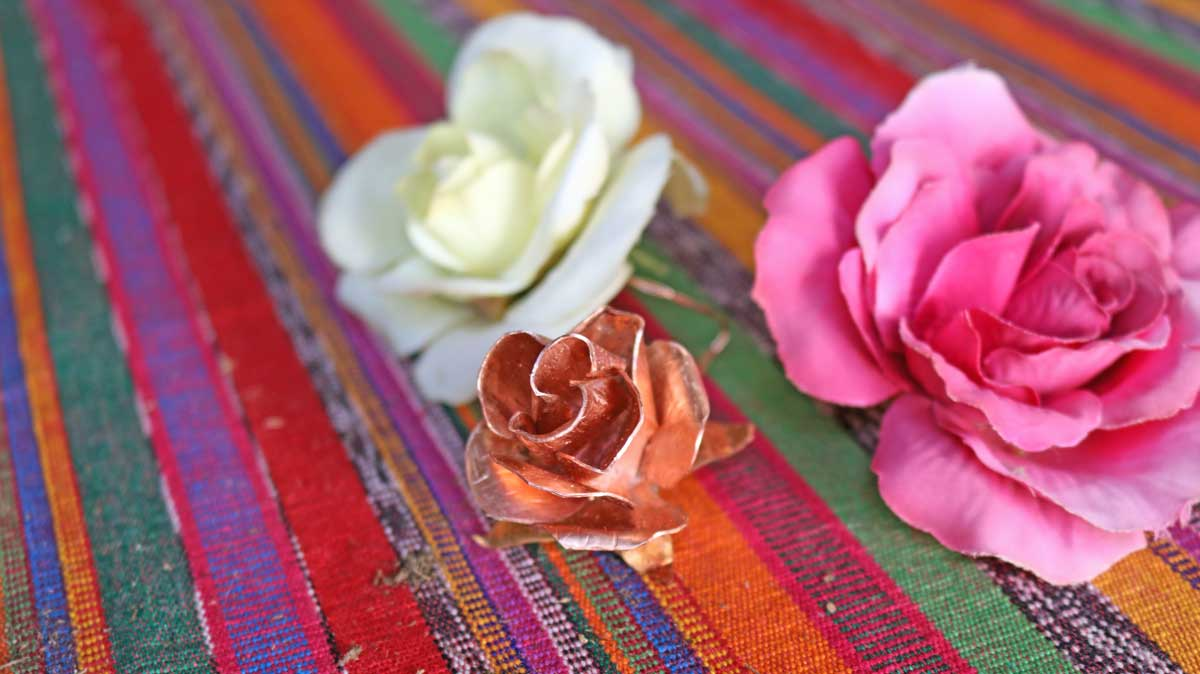 How to make a copper rose.