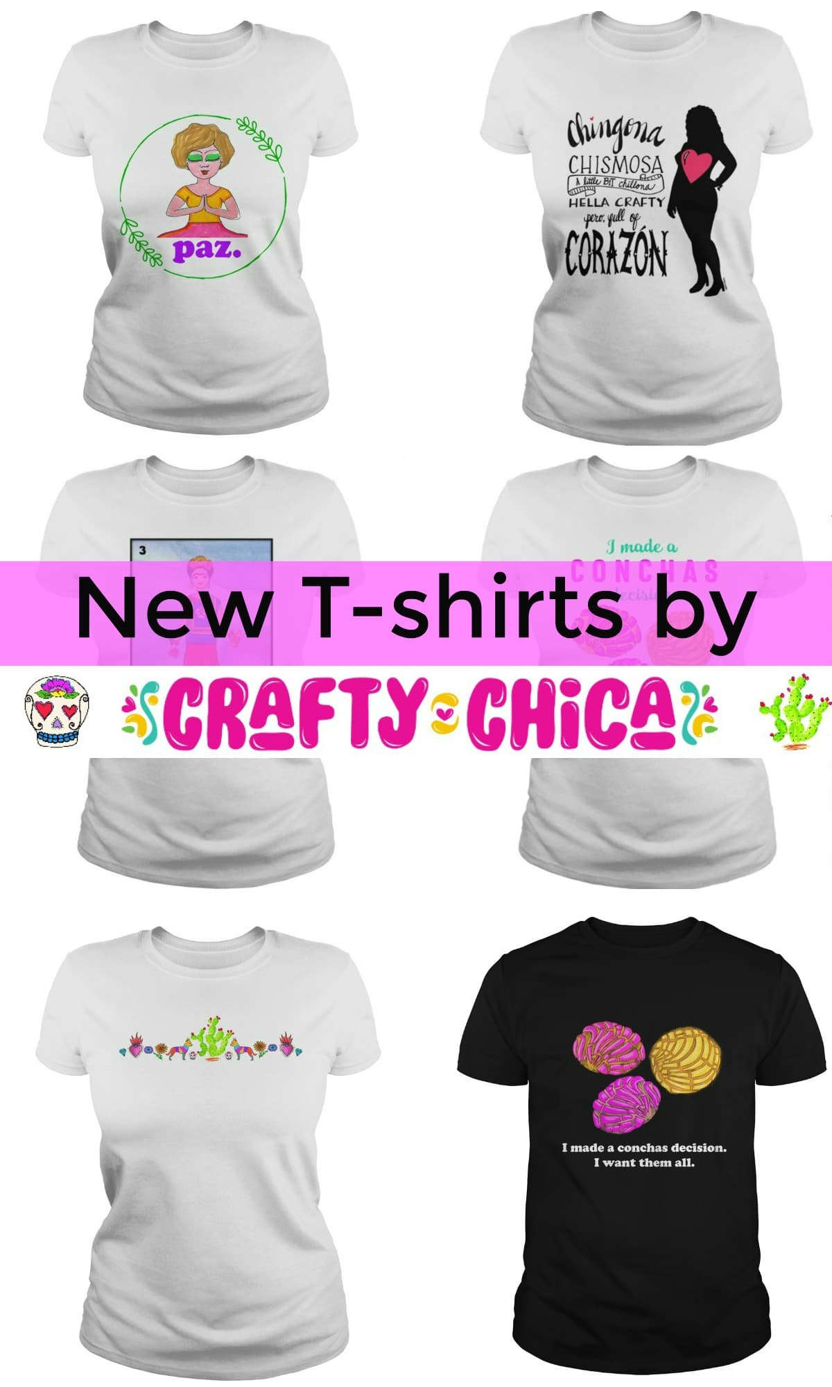 Crafty Chica t-shirts