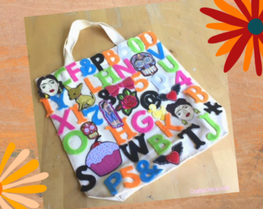 font and applique tote